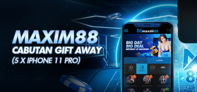 Free Iphone 11 for Maxim88 New Registration
